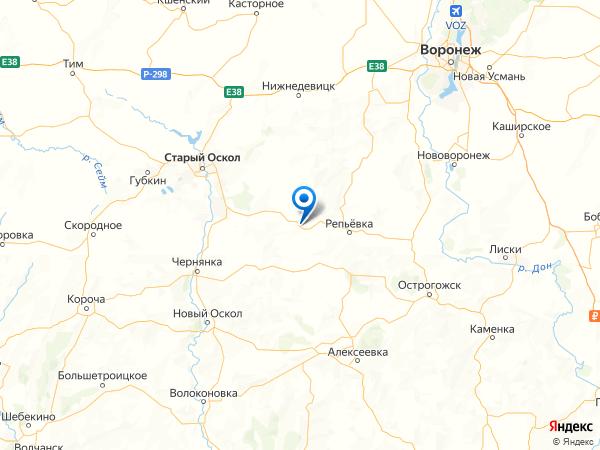 хутор Каменка на карте