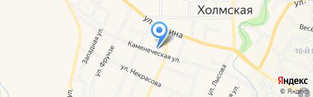 Средняя общеобразовательная школа №17 на карте Холмской