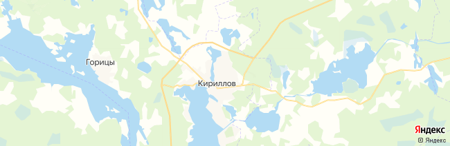 Кириллов на карте
