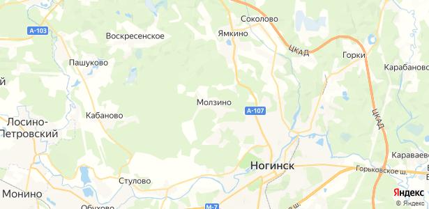Молзино на карте