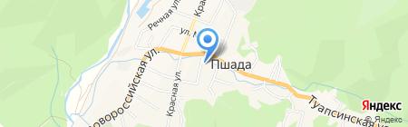 Администрация Пшадского внутригородского округа на карте Геленджика