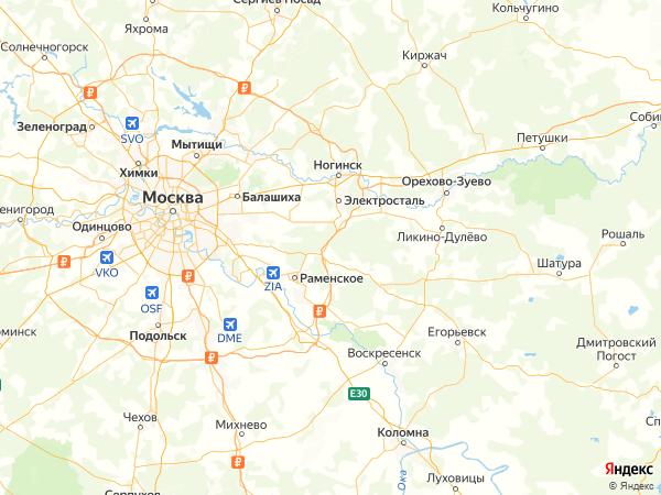коттеджный поселок Малиновка на карте