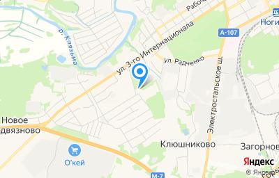 Местоположение на карте пункта техосмотра по адресу Московская обл, г Ногинск, ул Бабушкина, д 7