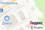 Схема проезда до компании Ладошки в Фряново