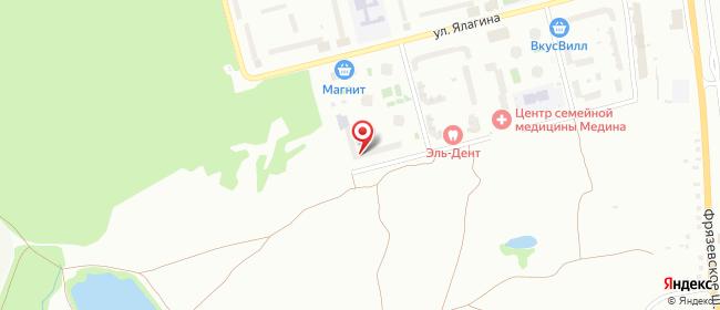 Карта расположения пункта доставки Бульвар 60-летия Победы в городе Электросталь