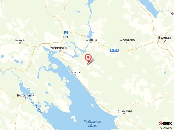 деревня Мартьяново на карте