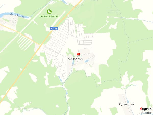 Карта населенный пункт Сапроново