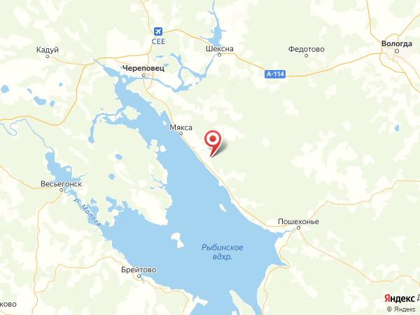 деревня Чечино на карте