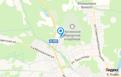 Местоположение на карте пункта техосмотра по адресу Московская обл, г Ногинск, тер ГСК Орбита