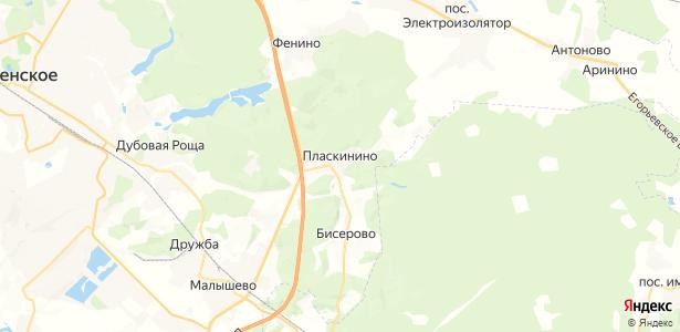 Пласкинино на карте