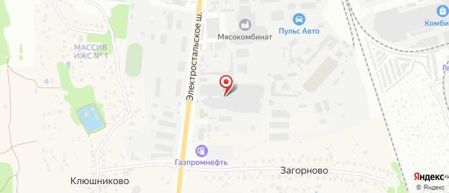 Карта расположения пункта доставки DPD Pickup в городе Ногинск