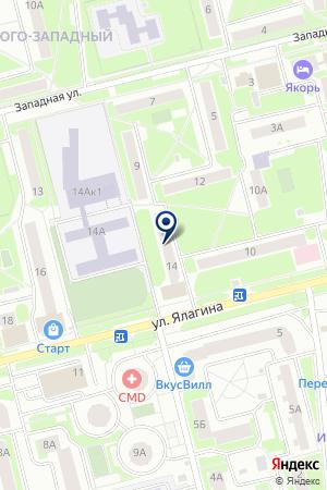 ПРОДОВОЛЬСТВЕННЫЙ МАГАЗИН ДОМАШНИЙ ОЧАГ на карте Электростали