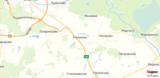 Ульянино на карте