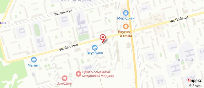 Карта расположения пункта доставки Электросталь Ялагина в городе Электросталь