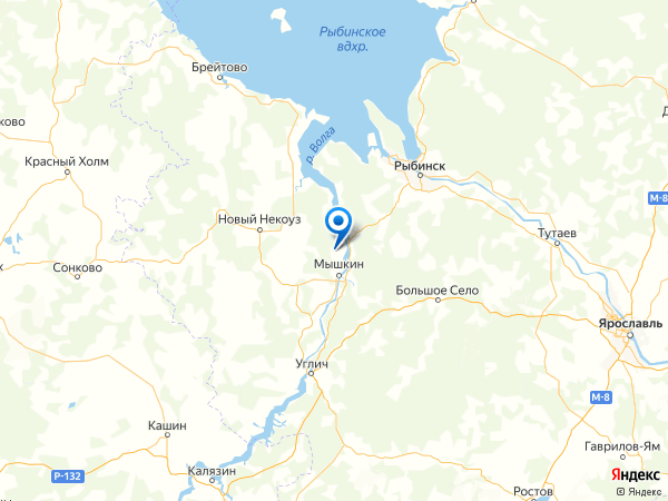 деревня Казаково на карте