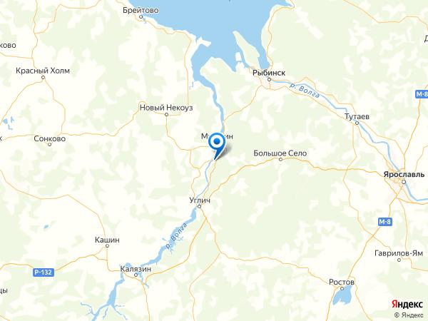 село Учма на карте