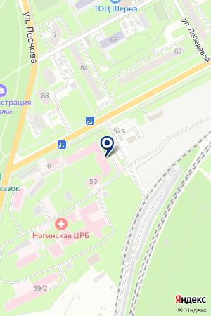 АВТОСТОЯНКА БЕРЕЗКА на карте Ногинска