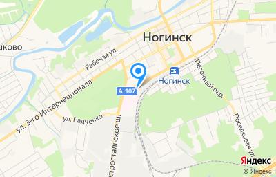 Местоположение на карте пункта техосмотра по адресу Московская обл, г Ногинск, ул Комсомольская, д 57