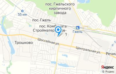 Местоположение на карте пункта техосмотра по адресу Московская обл, Раменский р-н, сп Гжельское, п Комбината стройматериалов-1, д 5Б/2