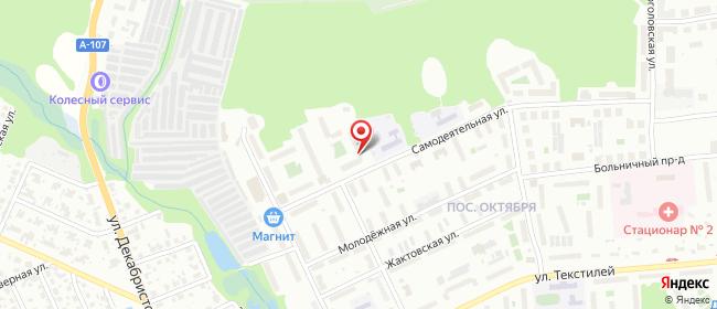 Карта расположения пункта доставки Ногинск Самодеятельная в городе Ногинск