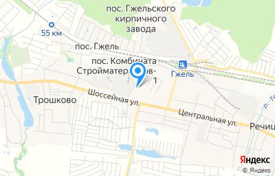 Местоположение на карте пункта техосмотра по адресу Московская обл, г Раменское, п Комбината стройматериалов-1, д 5Б/2