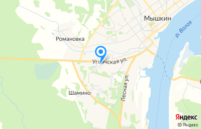 Местоположение на карте пункта техосмотра по адресу Ярославская обл, г Мышкин, ул Угличская, д 49А