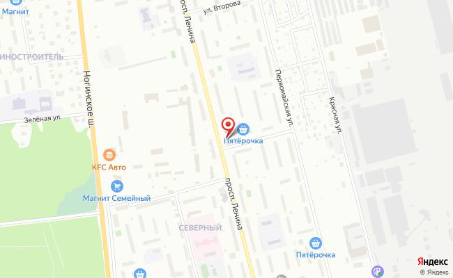 Карта расположения пункта доставки Электросталь Ленина в городе Электросталь