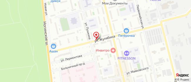 Карта расположения пункта доставки Lamoda/Pick-up в городе Электросталь