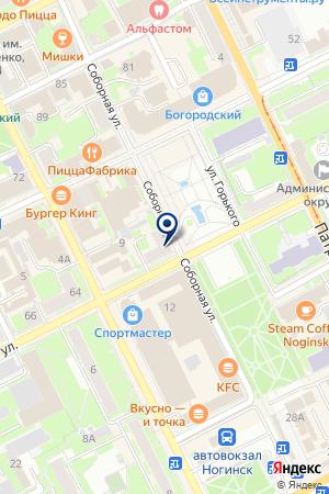 АГЕНТСТВО НЕДВИЖИМОСТИ ВАРИАНТ на карте Ногинска