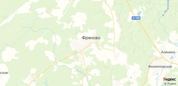 Фряново на карте