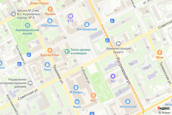 Ремонт телевизоров Город Ногинск на яндекс карте