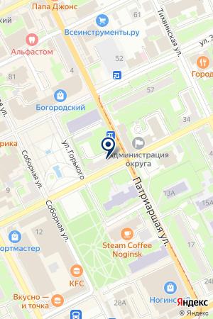 АГЕНТСТВО НЕДВИЖИМОСТИ ДОВЕРИЕ на карте Ногинска