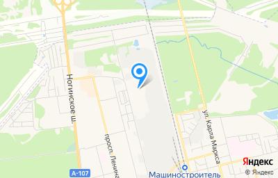 Местоположение на карте пункта техосмотра по адресу Московская обл, г Электросталь, ул Красная, д 1