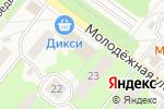 Схема проезда до компании Дикси в Белоозёрском