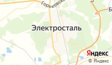 Гостиницы города Электросталь на карте
