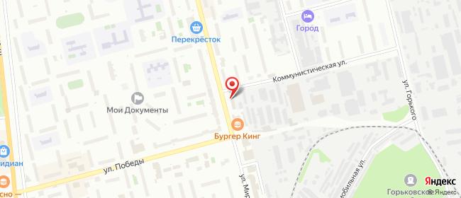 Карта расположения пункта доставки Ростелеком в городе Электросталь