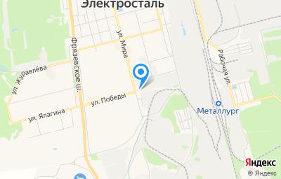 Местоположение на карте пункта техосмотра по адресу Московская обл, г Электросталь, ул Мира, д 27А