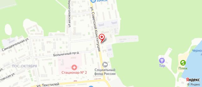 Карта расположения пункта доставки Ногинск Советской Конституции в городе Ногинск