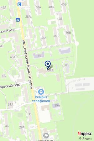 ФУТБОЛУ ПО АТЛЕТИКЕ СПОРТИВНАЯ ШКОЛА-ИНТЕРНАТ на карте Ногинска