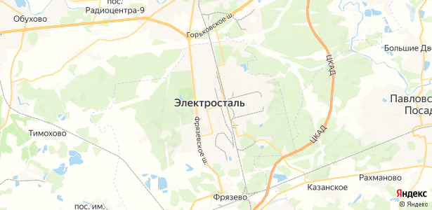 Электросталь на карте