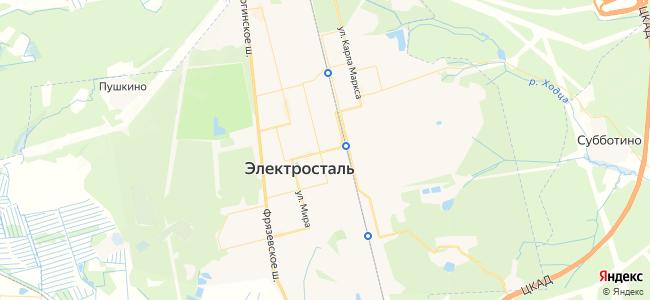 Электросталь - объекты на карте