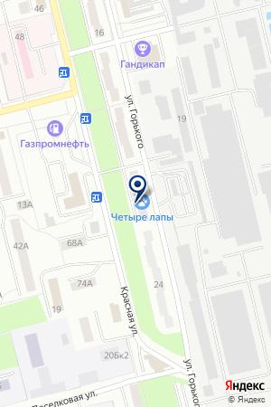 ВЕТЕРИНАРНАЯ КЛИНИКА ЧЕТЫРЕ ЛАПЫ на карте Электростали