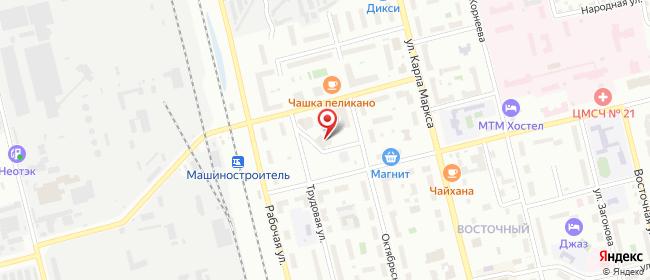 Карта расположения пункта доставки На Захарченко в городе Электросталь