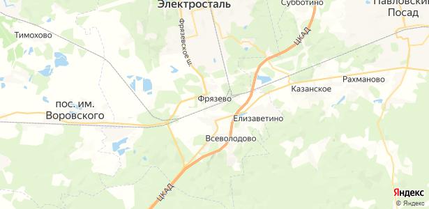 Фрязево на карте