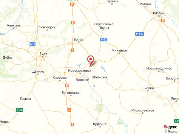 село Спасское на карте