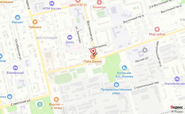 Карта расположения пункта доставки Электросталь Спортивная в городе Электросталь