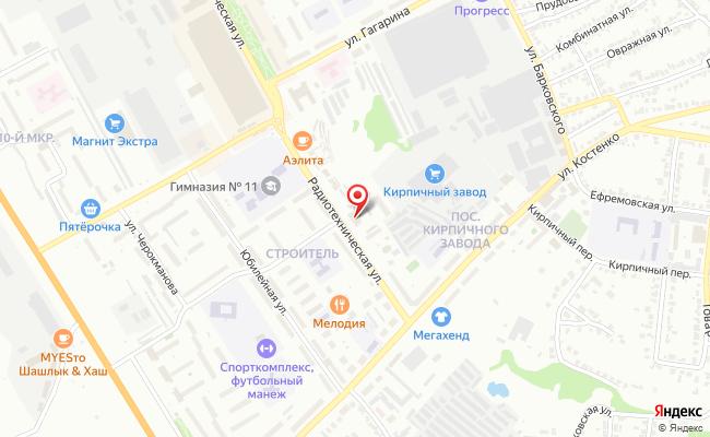 Карта расположения пункта доставки Халва в городе Елец