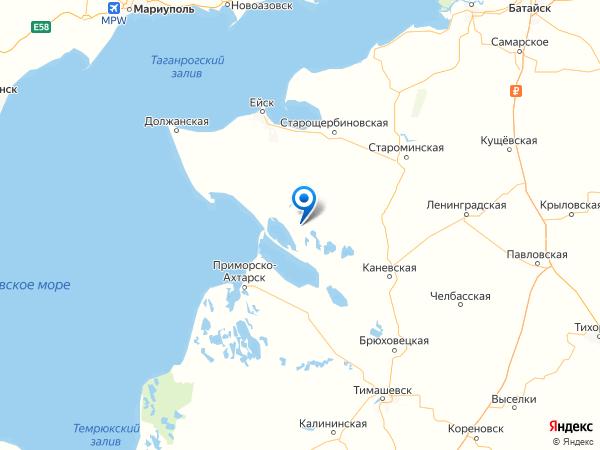 станица Копанская на карте