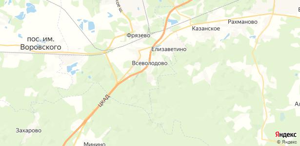 Всеволодово на карте