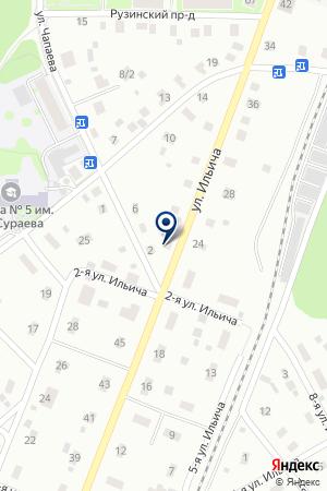 ГЛУХОВСКАЯ ШКОЛА-ИНТЕРНАТ № 2 на карте Ногинска